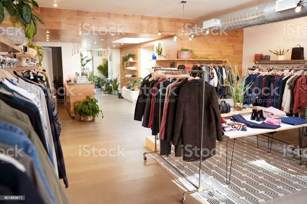 59486e185b Clothes Shop Interior Stock Photo & More Pictures of Brooklyn - New ...