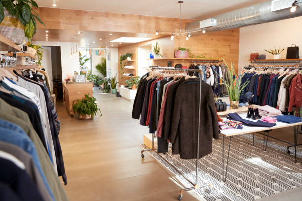 clothes shop interior - store stock pictures, royalty-free photos & images