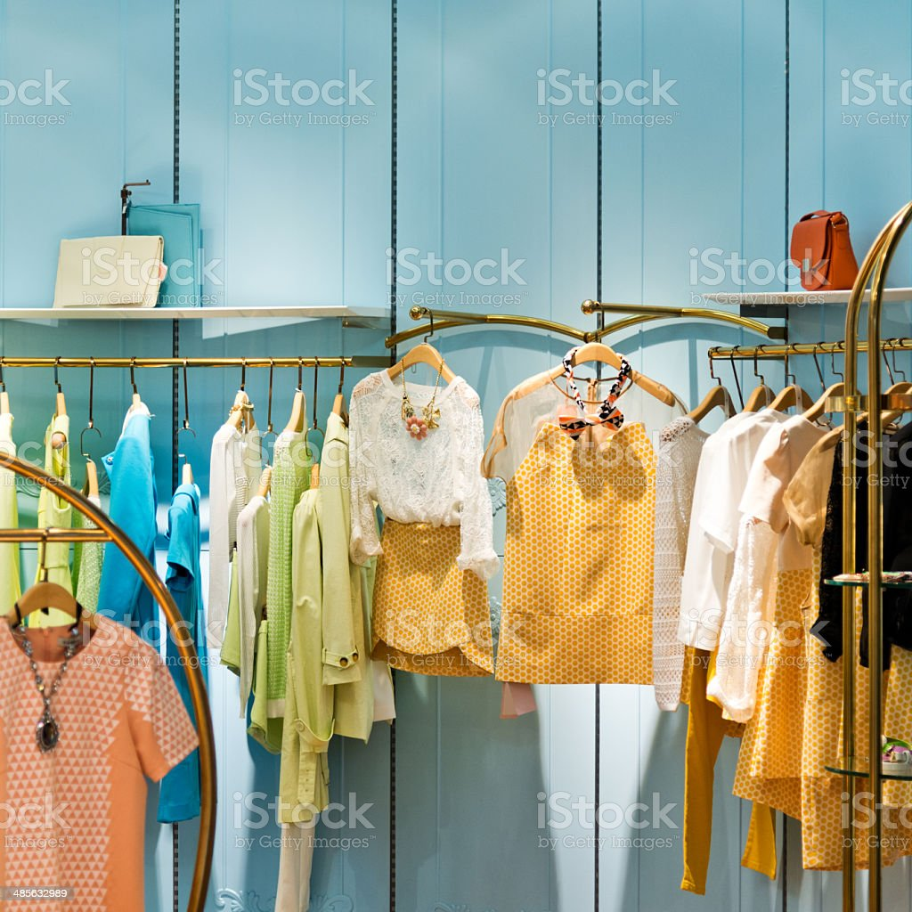 Clothes shop stock photo