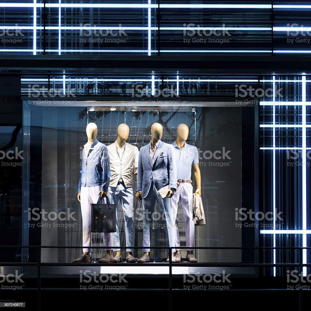 Clothes shop stock photo