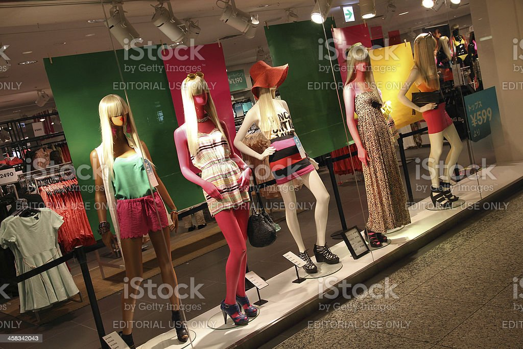 H&M clothes store stock photo