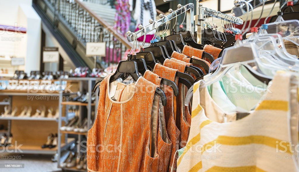 clothes storem rack royalty-free stock photo