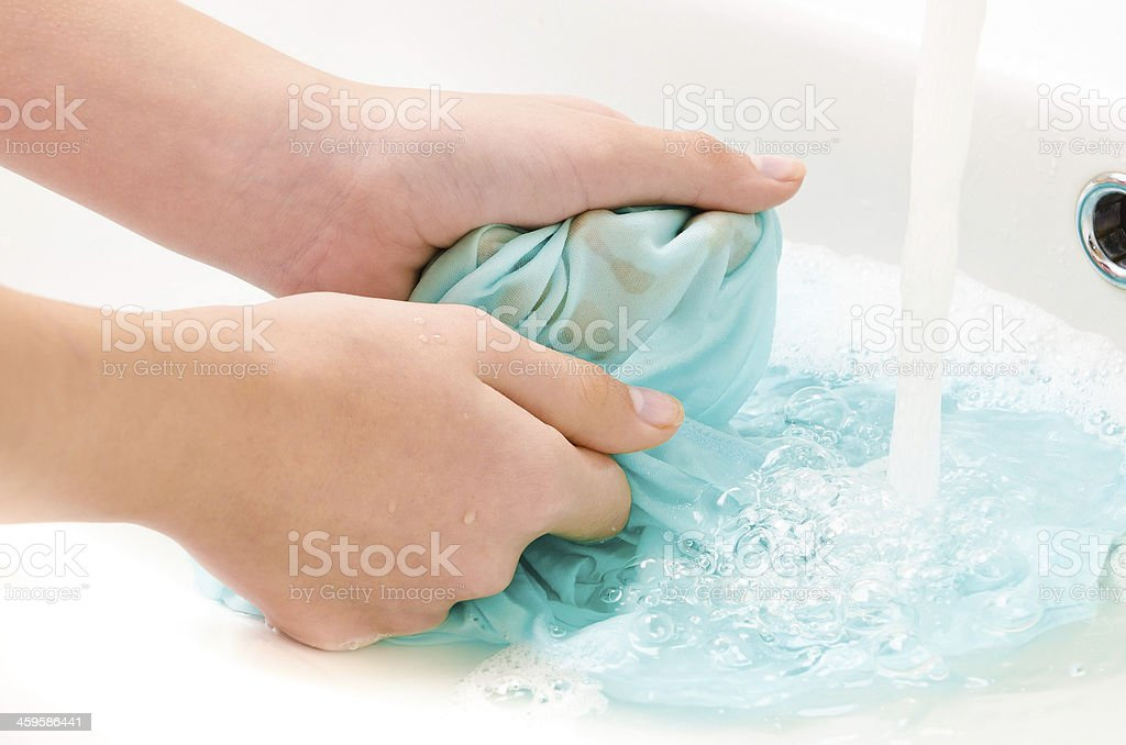 clothes to wash hands stock photo