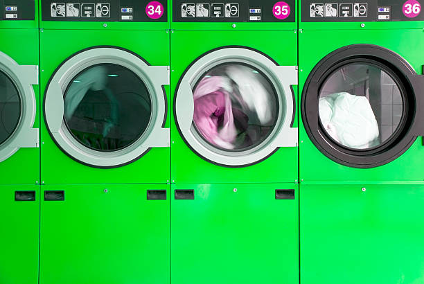 clothes washers stock photo