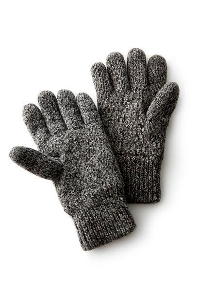 vêtements: gants d'hiver - paire de gants photos et images de collection
