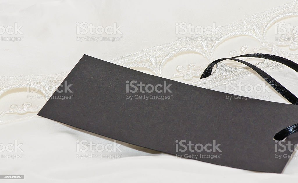 Clothes with blank label. royalty-free stock photo