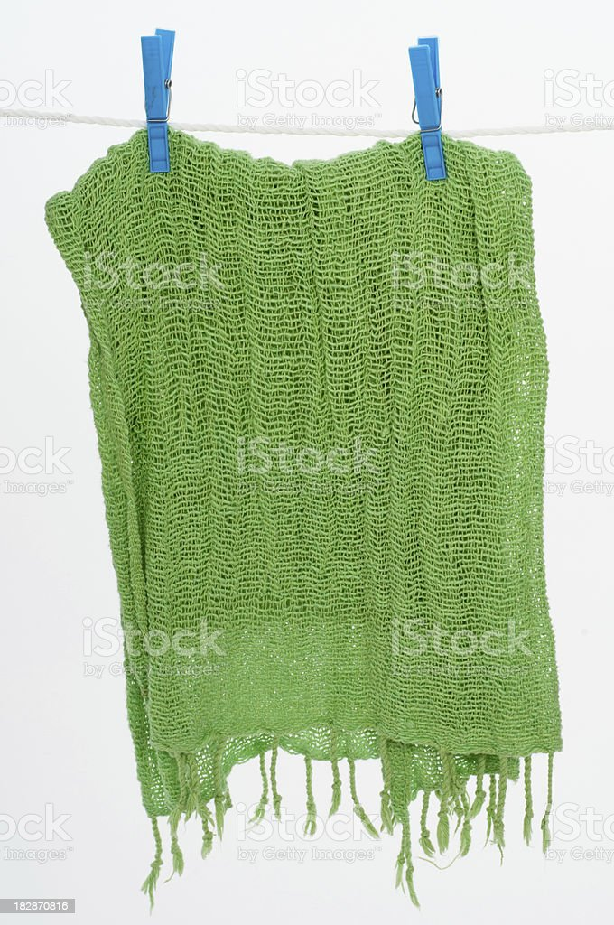 Clothesline with scarf. stock photo
