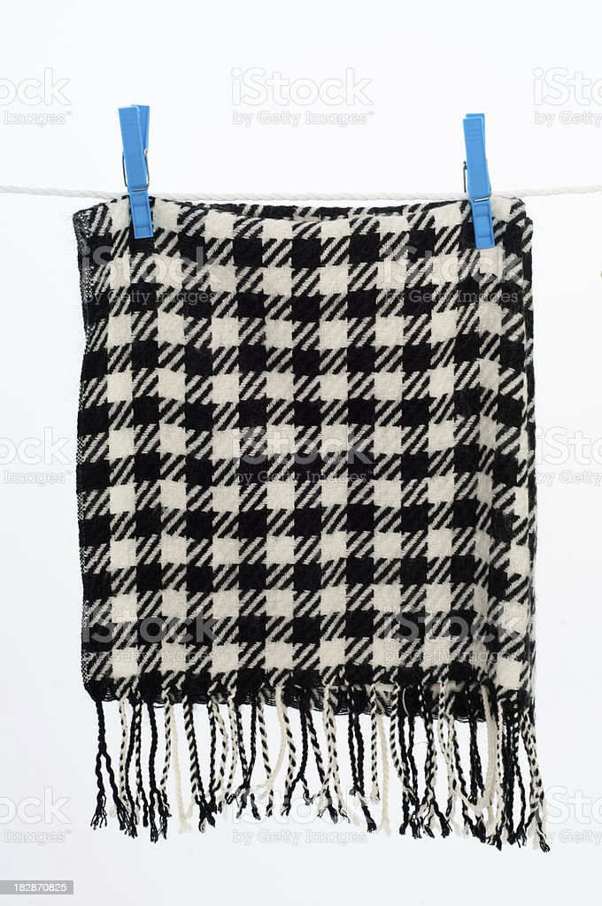 Clothesline with scarf stock photo