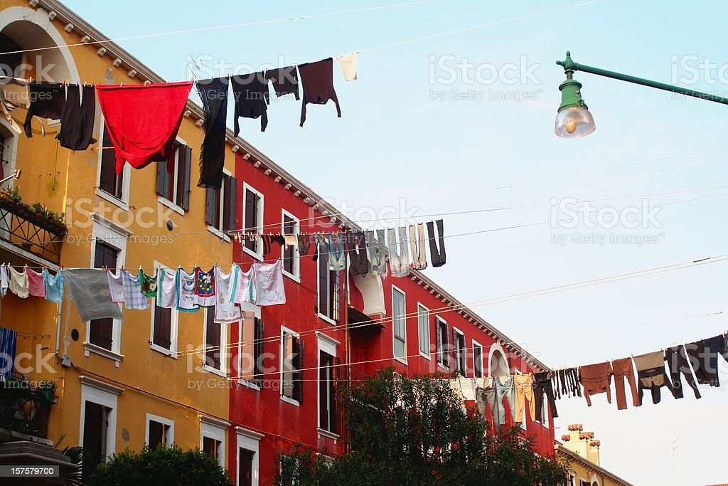 Clotheslines at Venice royalty-free stock photo