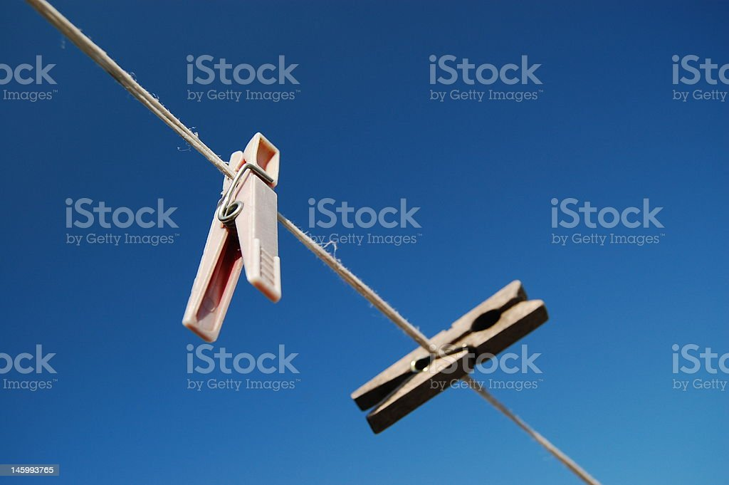 Clothes-pegs stock photo