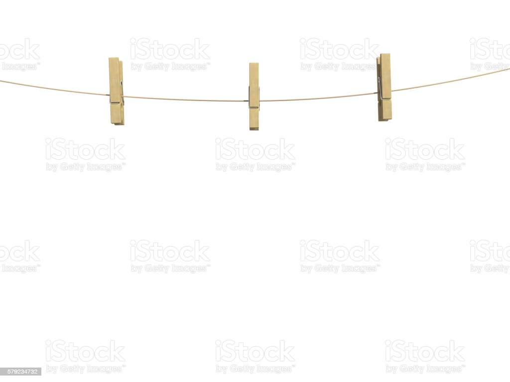 clothespin clamp front view stock photo