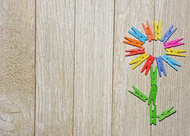 Clothespin Flower