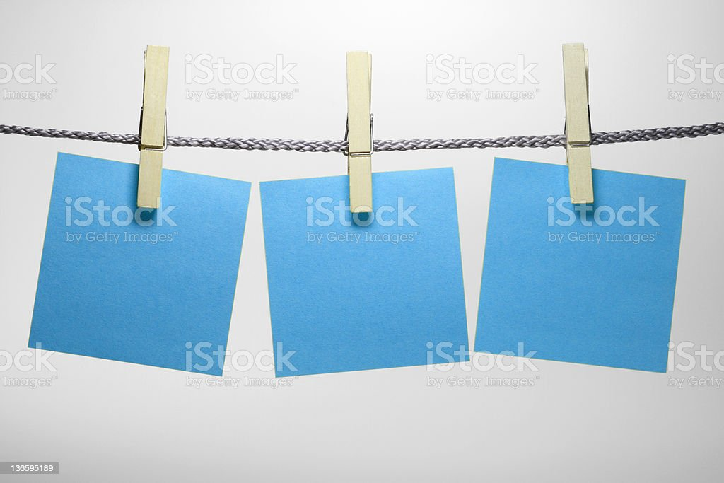 clothespin with notepad royalty-free stock photo