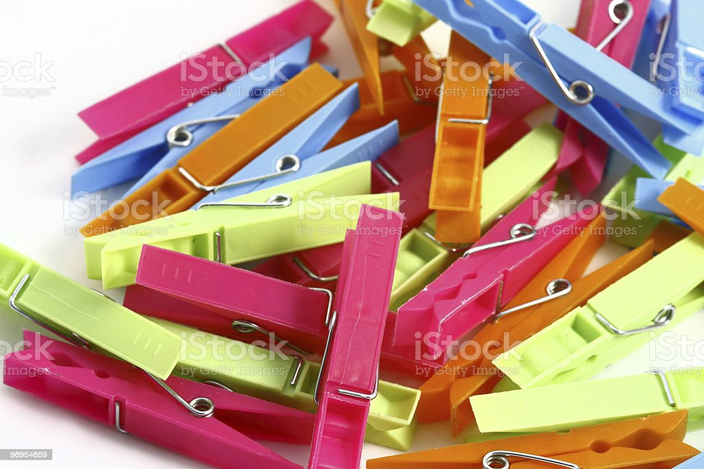 clothespins royalty-free stock photo