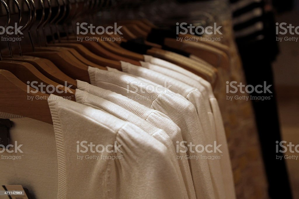 Clothing at retail store royalty-free stock photo