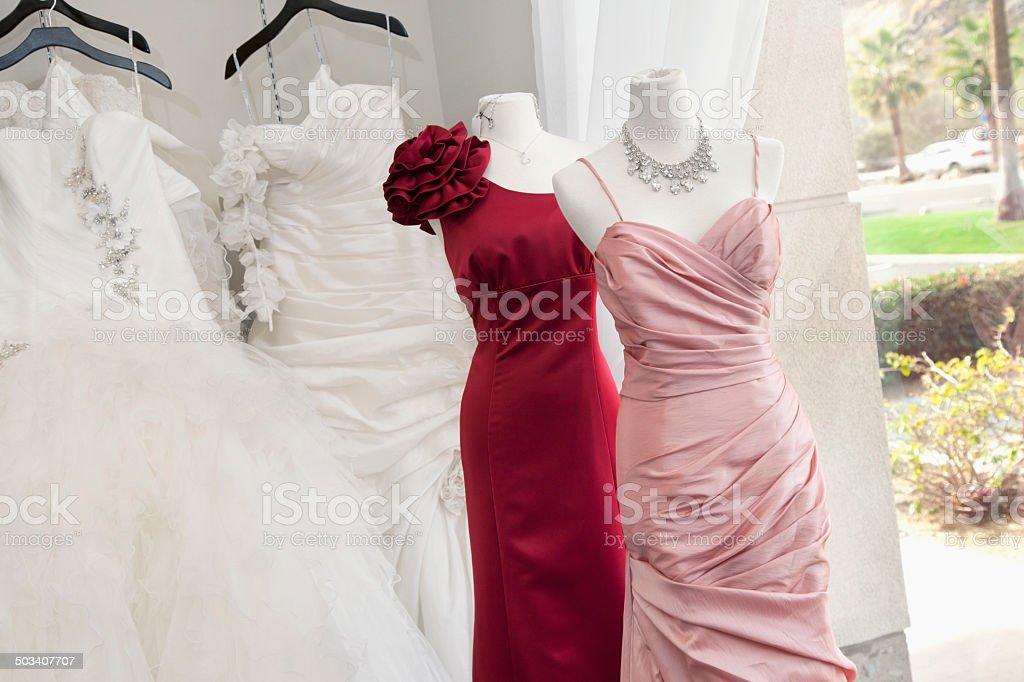 Clothing boutique stock photo