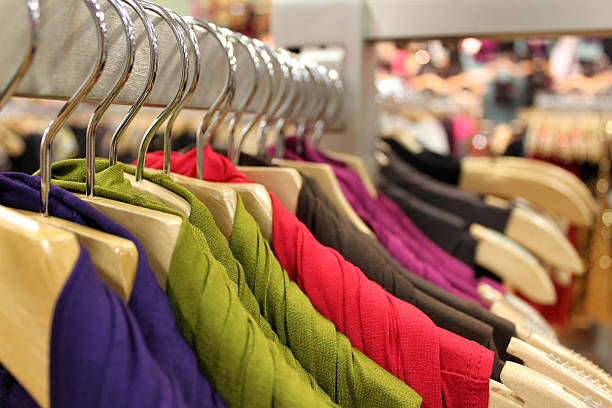 clothing department store stock photo