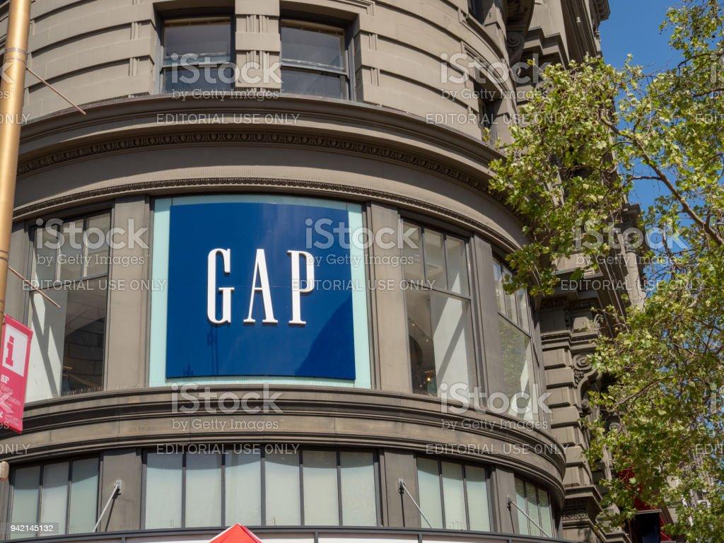 GAP clothing flagship retail store in San Francisco stock photo