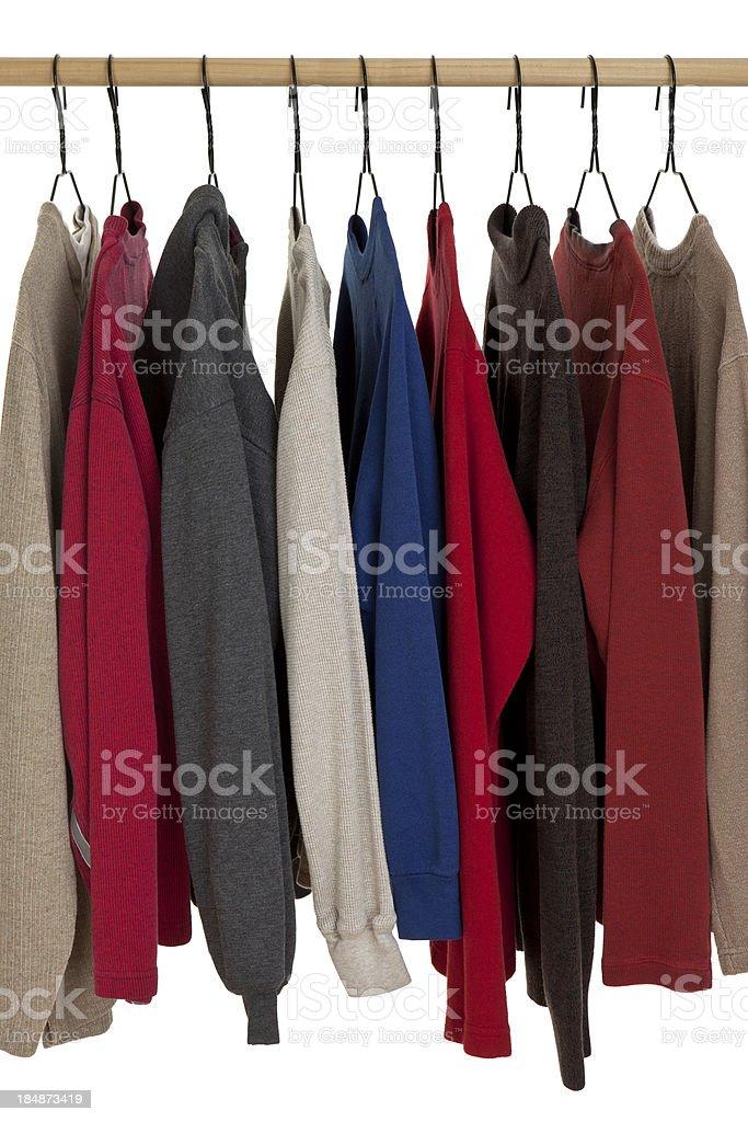 Clothing Hanging on Rack royalty-free stock photo