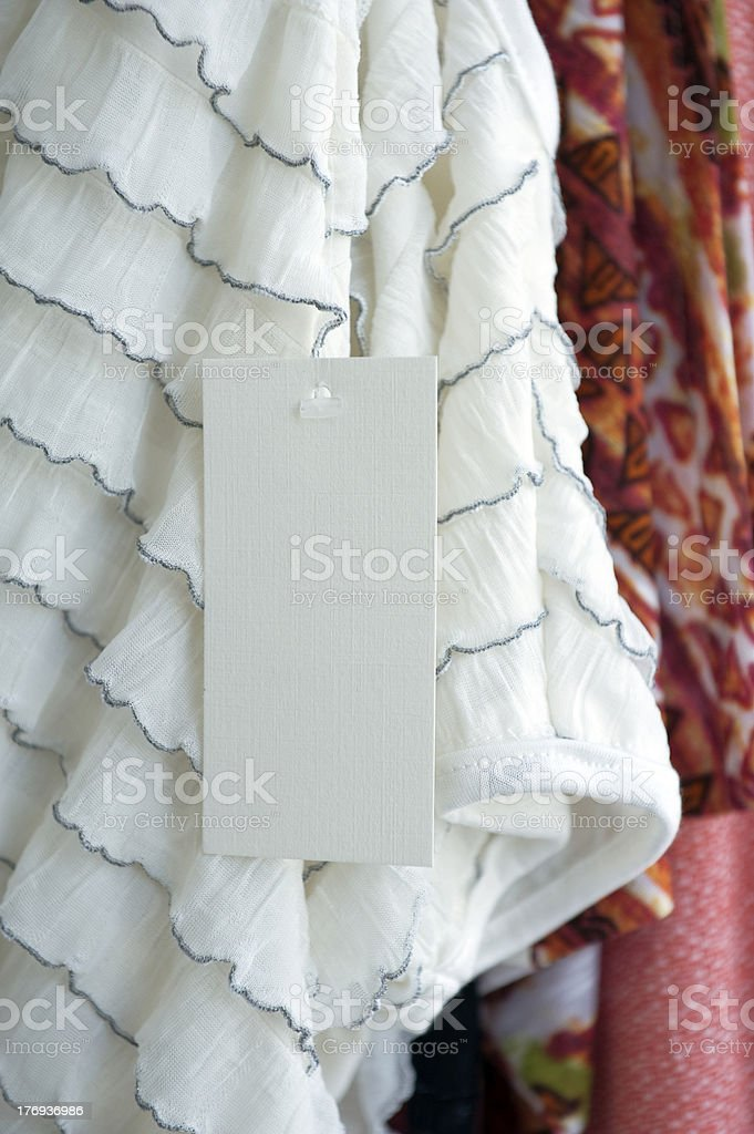 Clothing label royalty-free stock photo