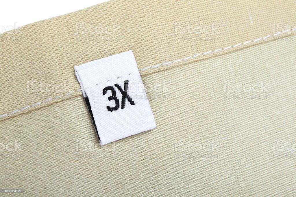 3 X ropa de etiqueta - foto de stock