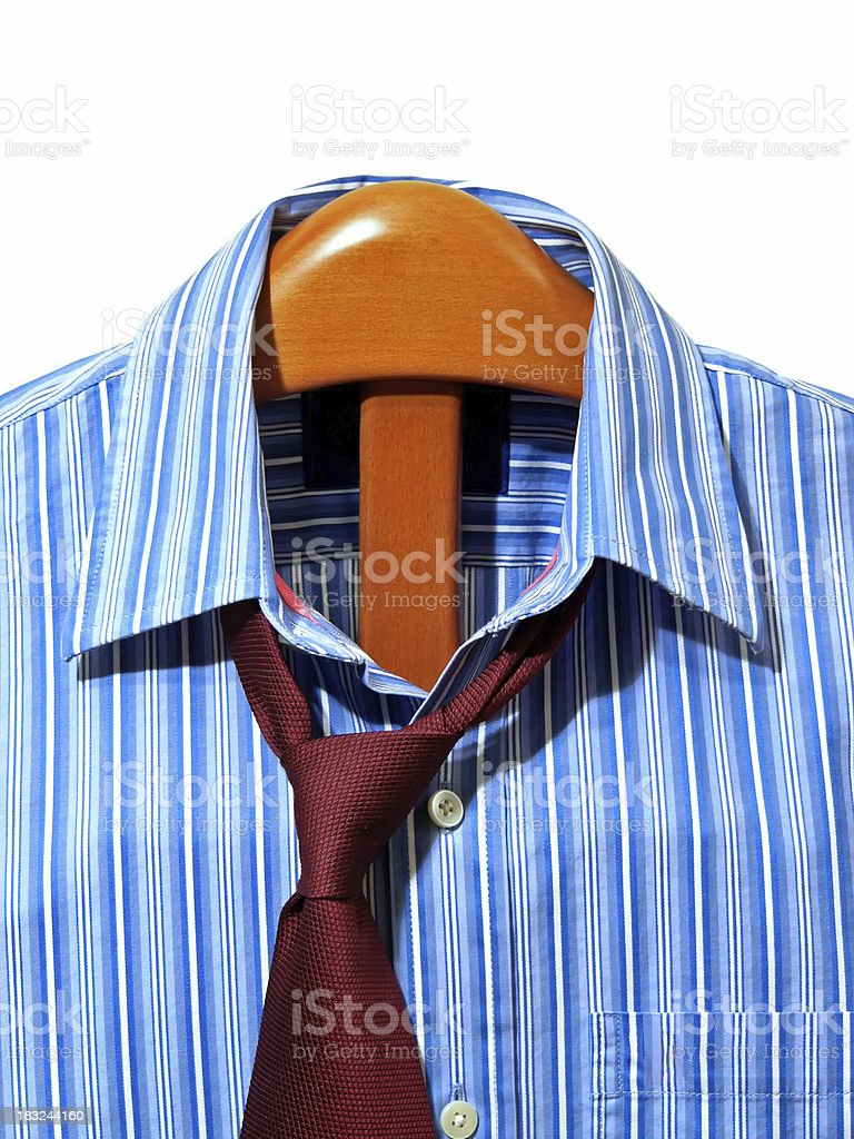 Clothing on a suit hanger royalty-free stock photo