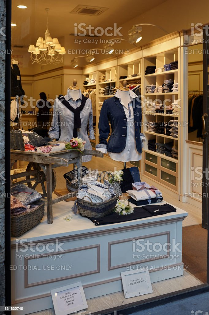 7e88a284ec7fc Clothing Shop In Siena Stock Photo & More Pictures of Adult - iStock