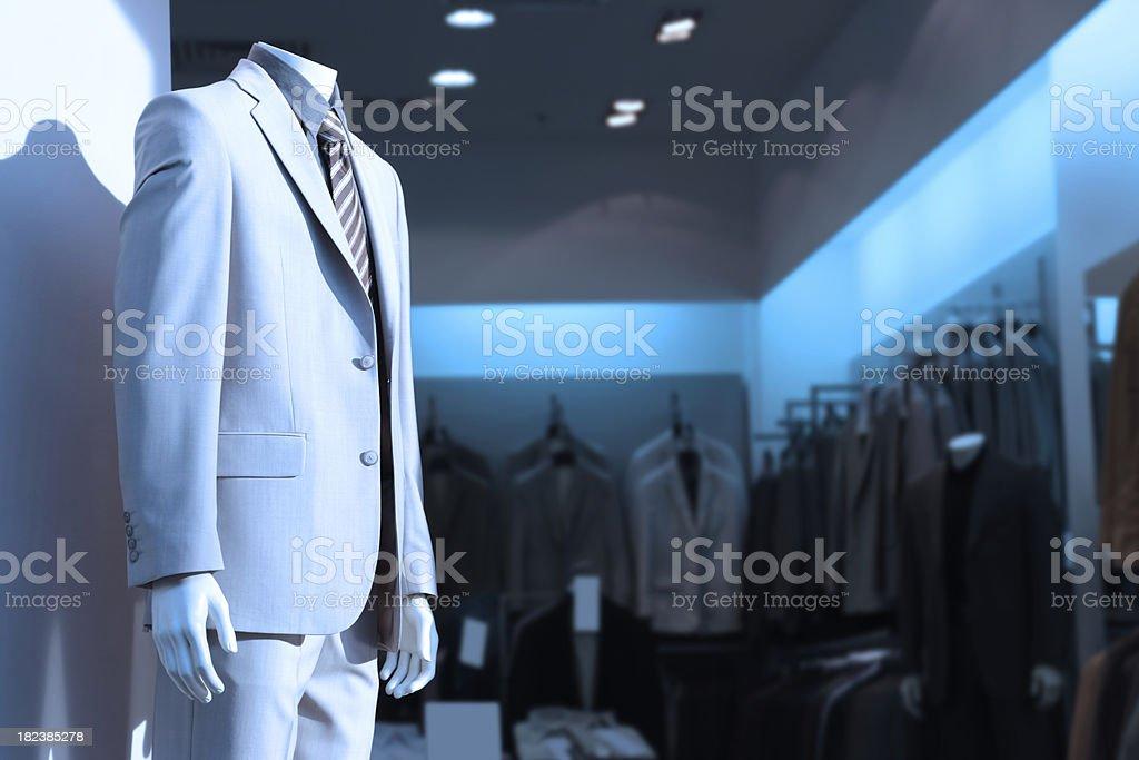 Clothing Store, Blue Toned Image royalty-free stock photo
