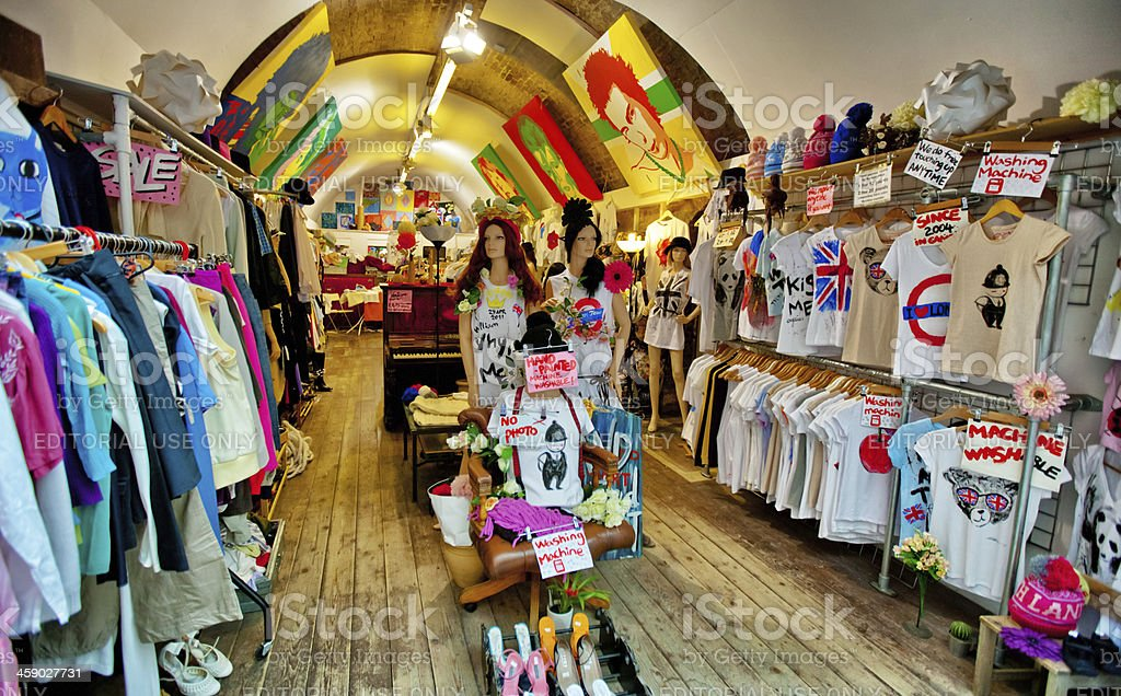 Clothing Store in Camden Town, London stock photo
