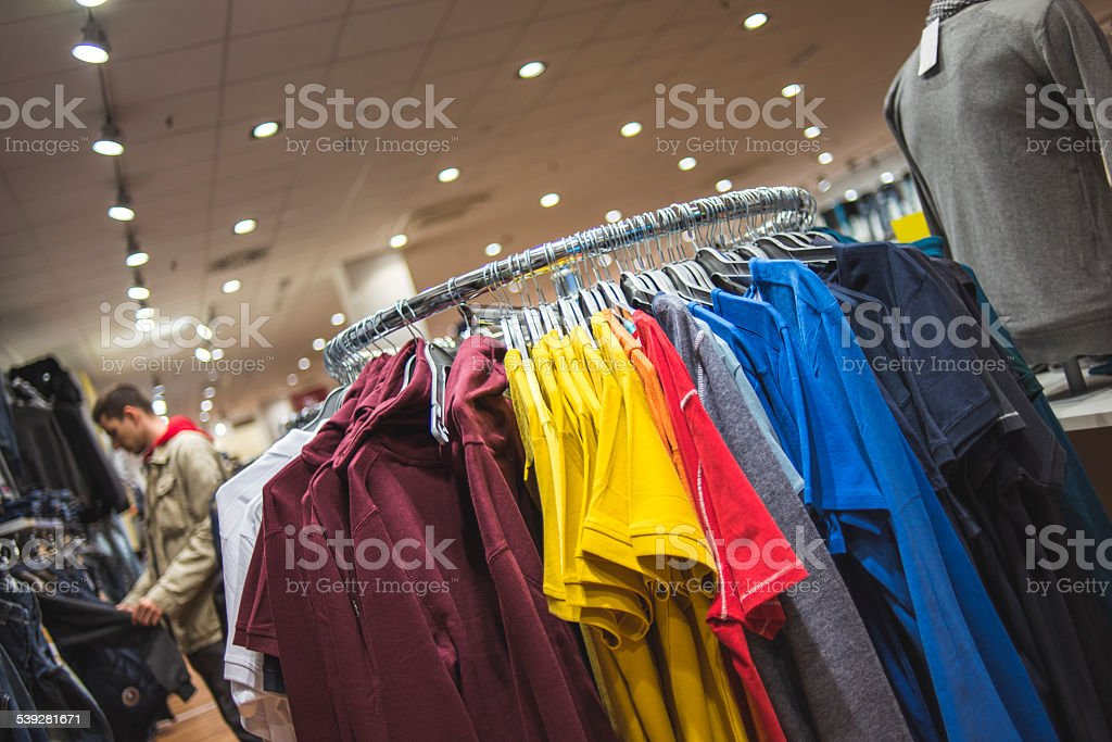 Clothing store stock photo