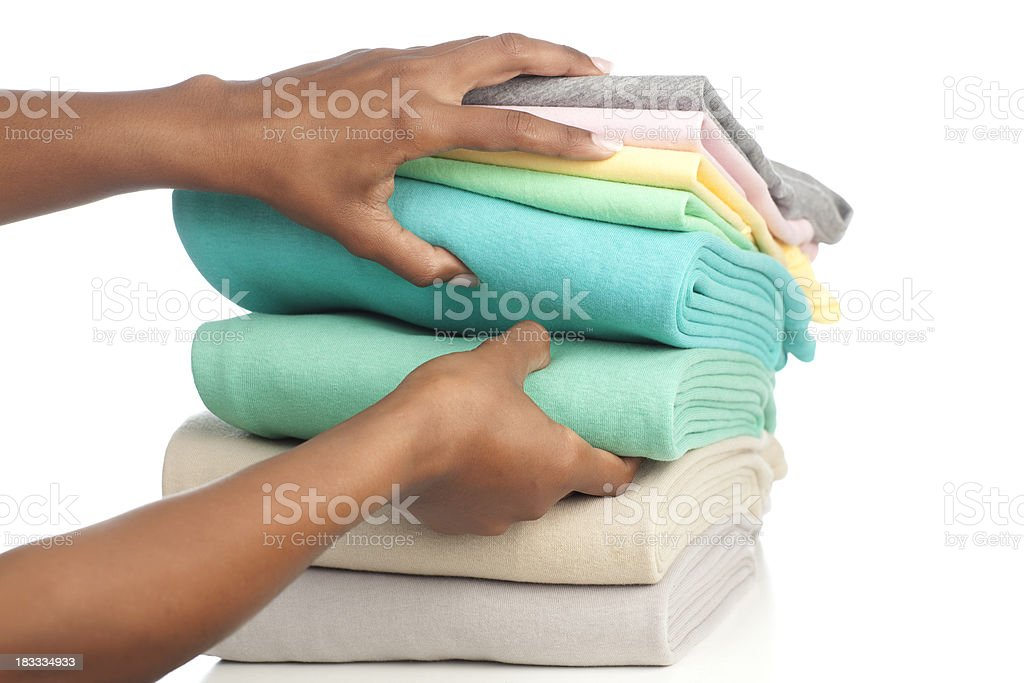 Clothing store service. stock photo