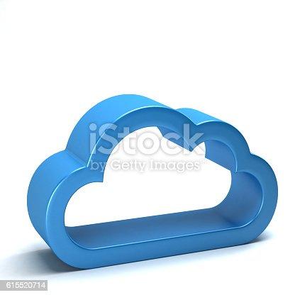 istock Cloud. 3D Render Illustration 615520714