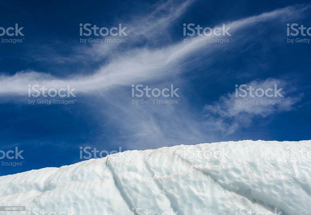 Cloud Above Matanuska Glacier stock photo