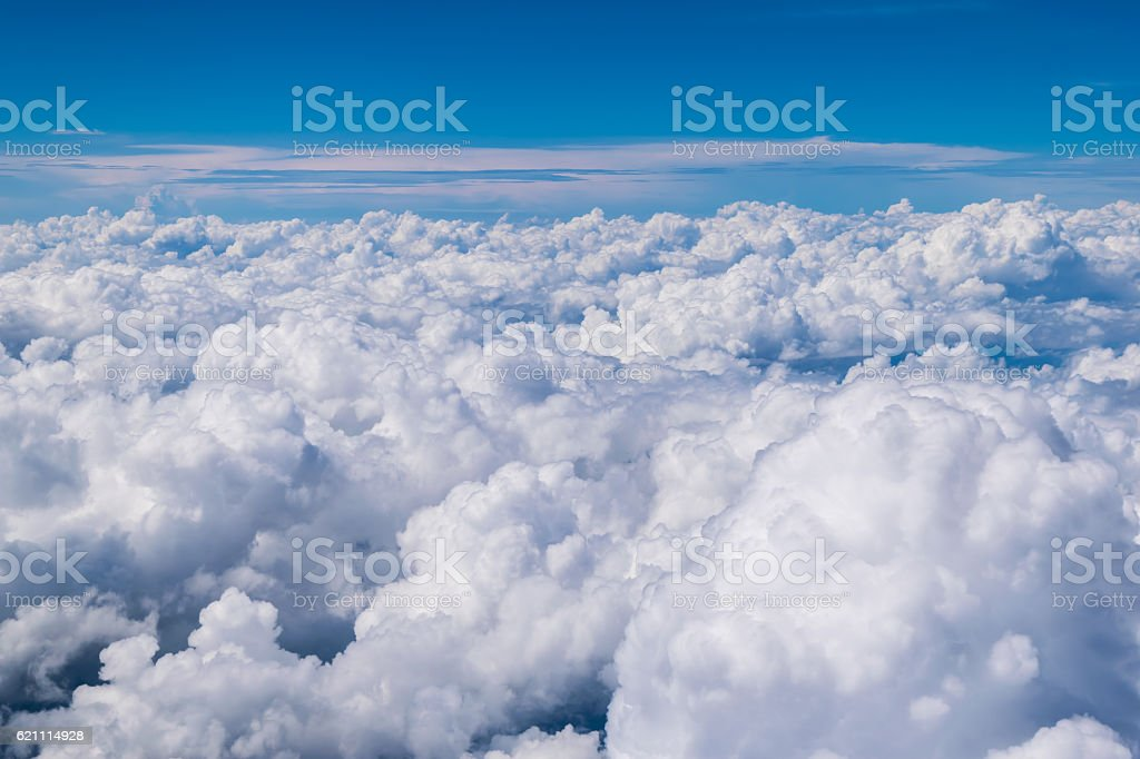 cloud above the blue sky stock photo