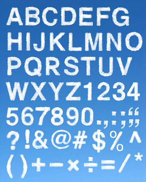 Cloud caratteri alfabetici - foto stock