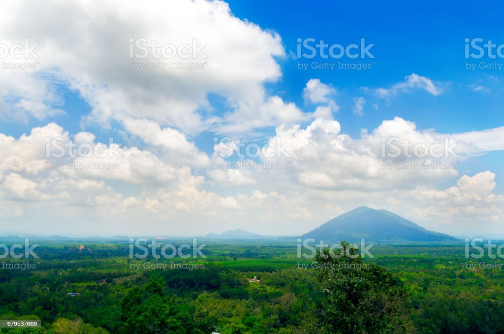 cloud and and blue sky with landscape. royalty-free stock photo