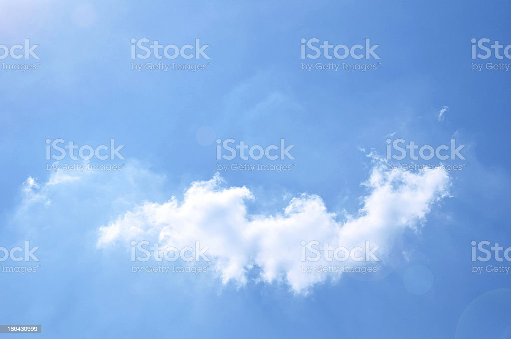 Cloud and blue sky background royalty-free stock photo