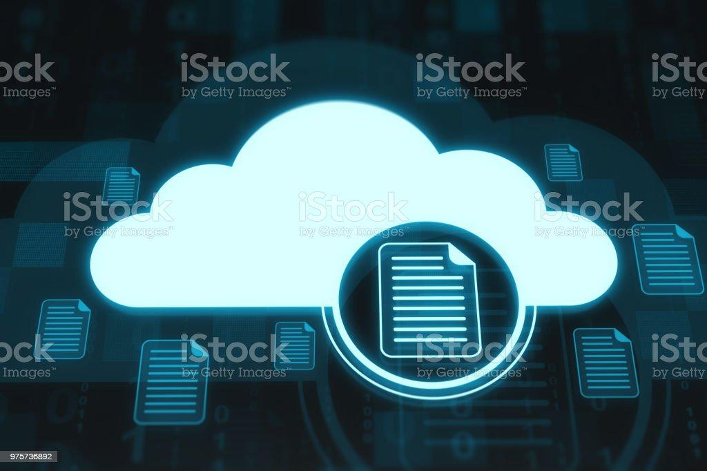 Cloud und Dateien - Lizenzfrei Akte Stock-Foto