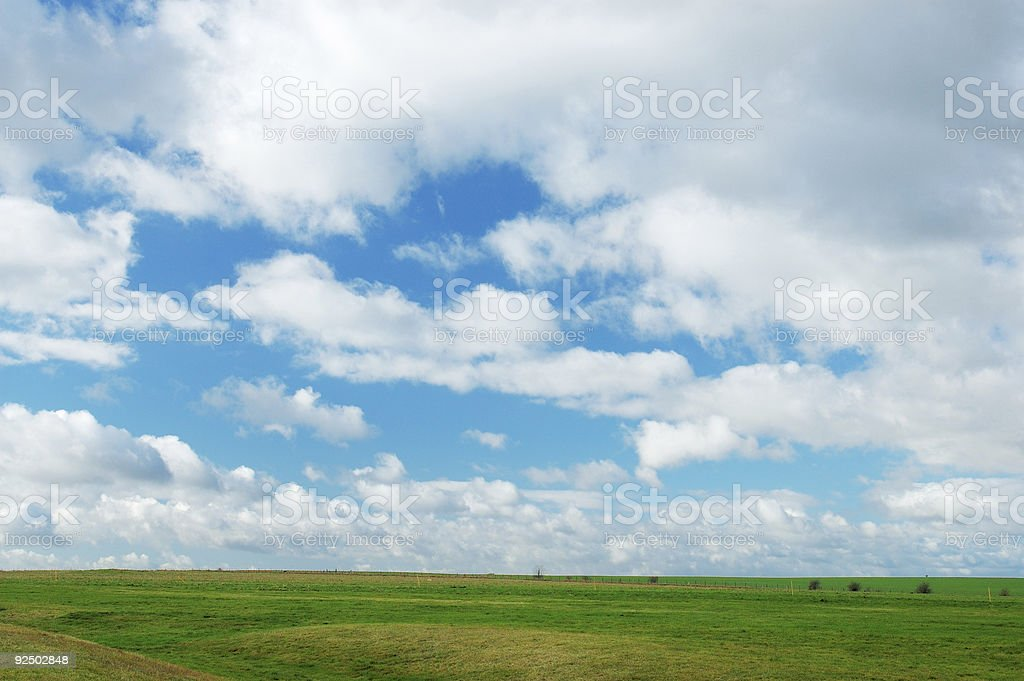 cloud and grass royalty-free stock photo
