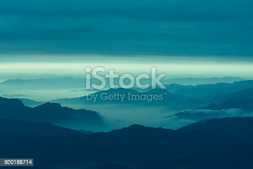 Cloud and mountain landscape
