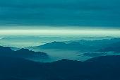 Cloud and mountain landscape