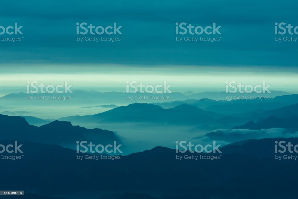 Cloud and mountain landscape stock photo