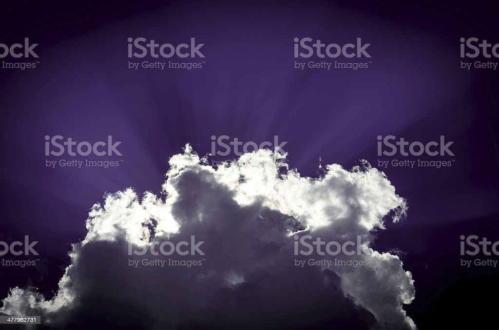 Cloud and rays royalty-free stock photo