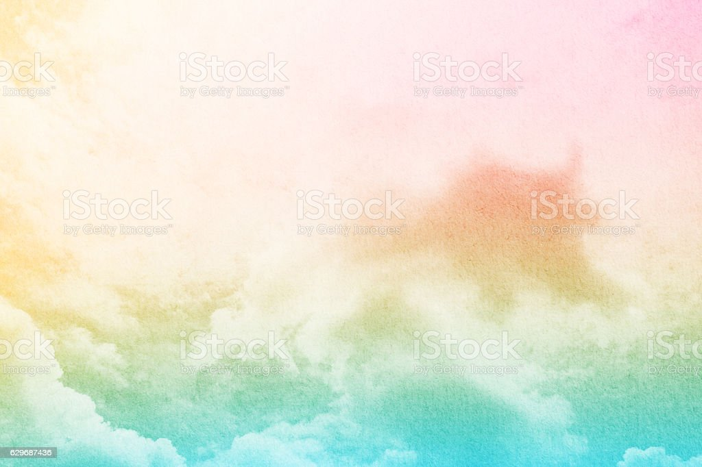 a82a80a72f Cloud And Sky With Pastel Gradient Color And Grunge Texture Stock ...