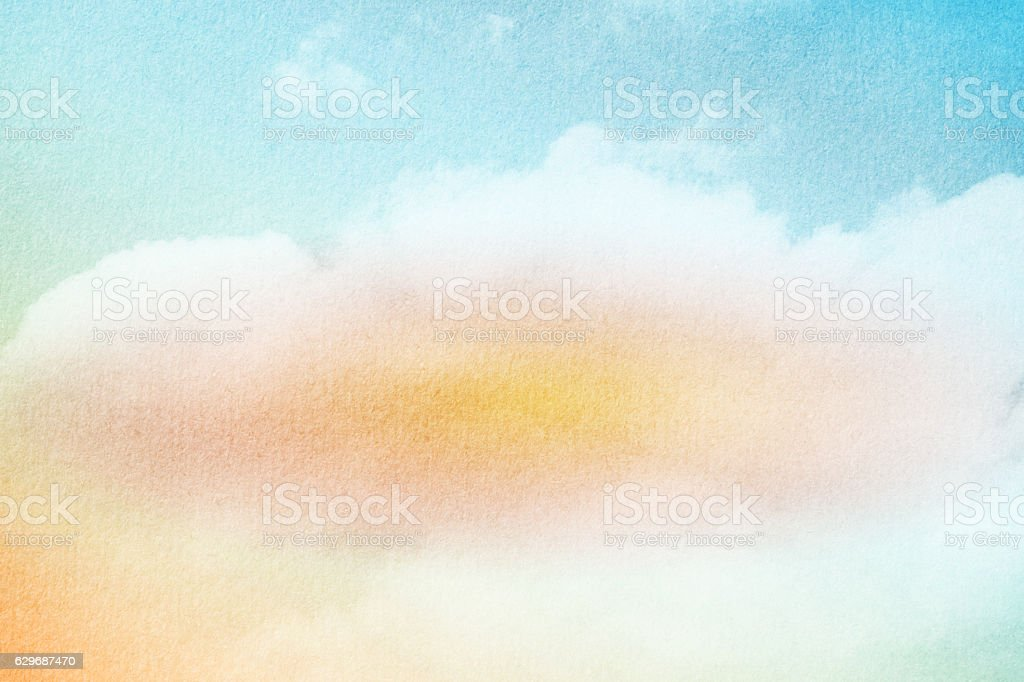 19b99118df Cloud and sky with pastel gradient color and grunge texture - Stock image .