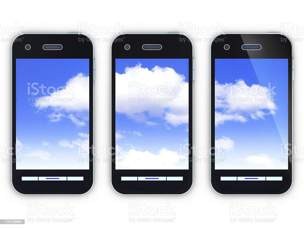 cloud and smartphone stock photo