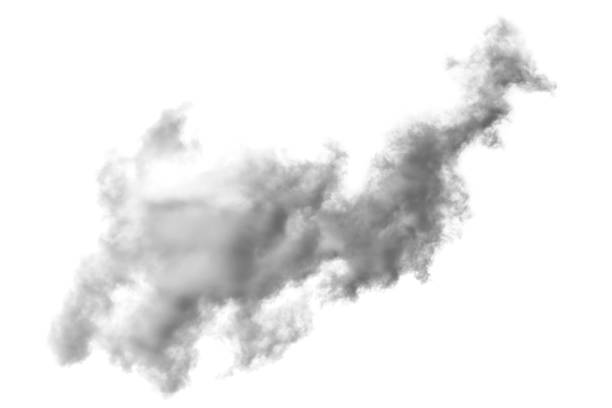 cloud and smoke isolated on white, background and texture stock photo