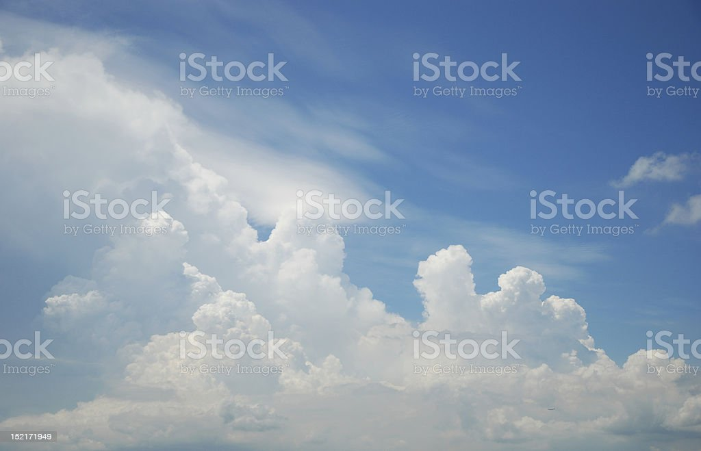 Cloud and the sky stock photo