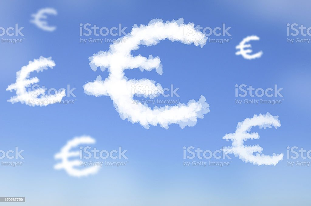 Cloud as Euro money royalty-free stock photo