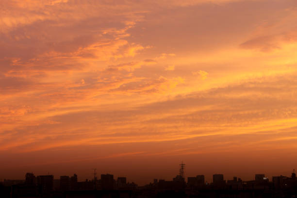 日本の夕暮れ雲します。 ストックフォト